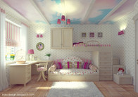 Cutest Ever Pretty Girly Berdroom Decor with Cloud Ceiling