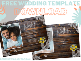 Free and Budget Cheapest Rustic Wedding Invitation Templates Trending
