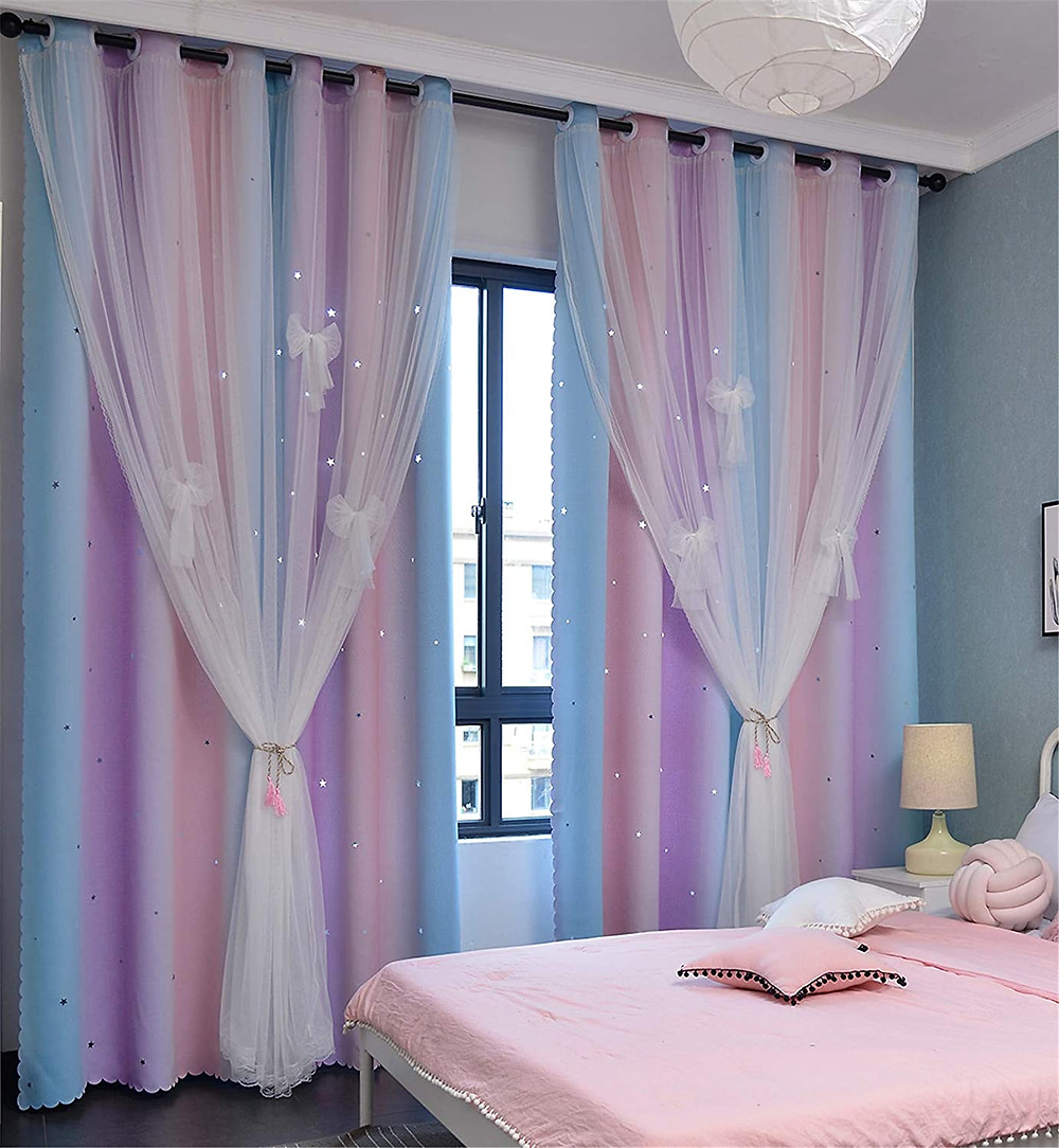 girly curtains