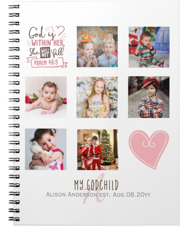 pretty girly photo collage notebook journal