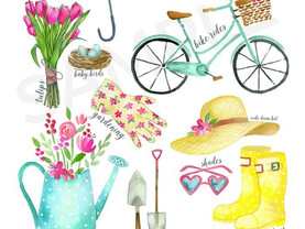 FREE Watercolor Spring printable Illustration for Download