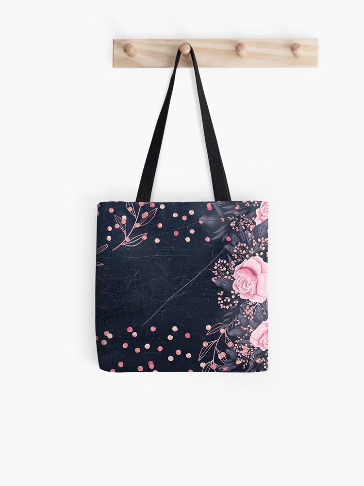 pretty girly designs tote bags