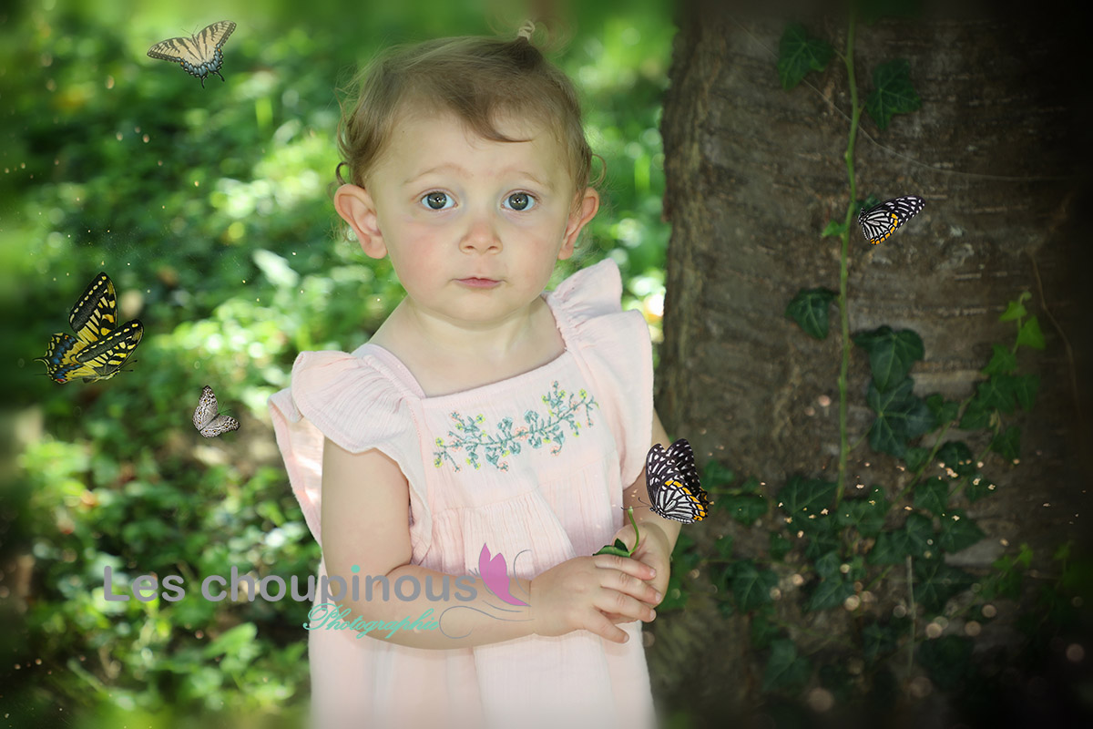 petite fille shooting photo fairy