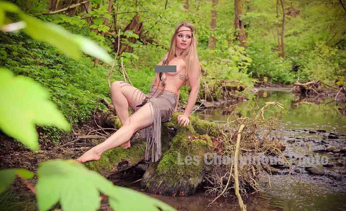 séance photo boudoir dans la nature