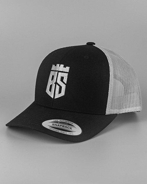 Retro Trucker Cap (Black/Grey)