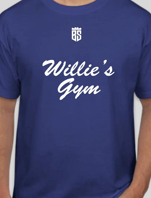 Willie's Gym Blue T-Shirt