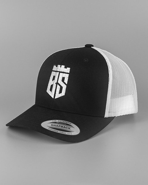 Retro Trucker Cap (Black/White)