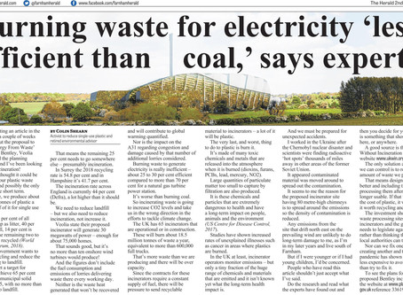"""Burning waste for electricity """"less efficient than coal"""" says expert"""