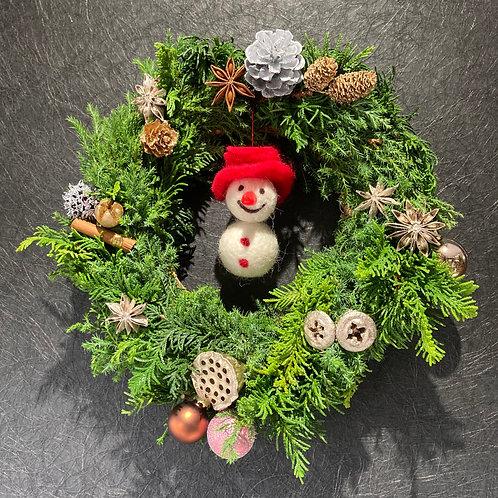 SOWAKA クリスマスリース small(直径約25cm) a