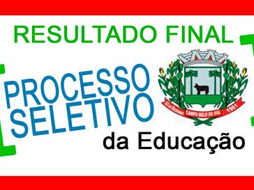 Secretaria da educação de Campo Belo do Sul divulga classificação final