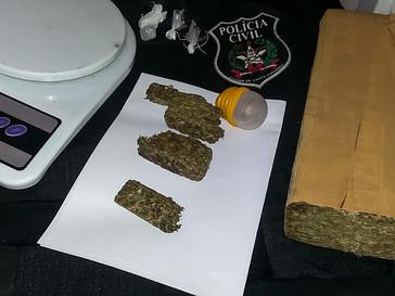 Polícia Civil prende traficante com um quilo de droga após quatro meses de investigações em Campo Be