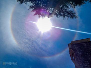 Halo Solar é visto no céu de Campo Belo do Sul