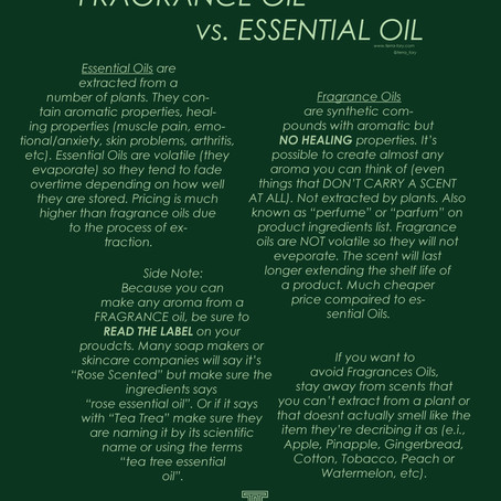 Fragrance vs. Essential Oils: What You should know about both.