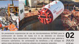 """""""Webinar CONSTRUCCIÓN DE MICROTÚNELES MEDIANTE SISTEMAS MECANIZADO"""""""