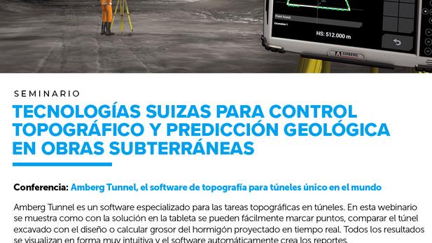 """""""Webinar: 🏗 Amberg Tunnel, el software de topografía para túneles único en el mundo"""""""