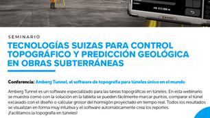 """""""Webinar: 🏗 """"Amberg Tunnel, el software de topografía para túneles único en el mundo"""""""