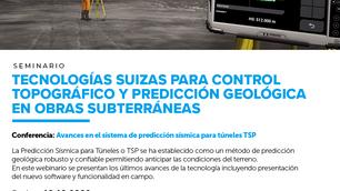 """""""Webinar: 🏗 """"Avances en el sistema de predicción sísmica para túneles TSP"""""""