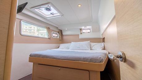 Naxos Yachting Catamarans DANAE & RENA interior starboard aft cabin