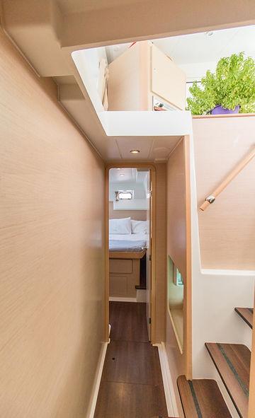 Naxos Yachting Catamarans DANAE & RENA interior cabins