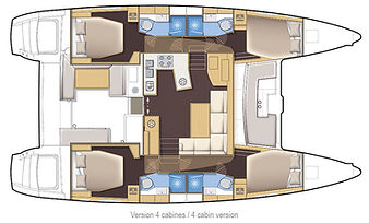 Naxos Yachting Catamaran RENA (Lagoon 450S) layout