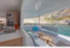 Naxos Yachting Catamarans DANAE & RENA, exterior aft saloon