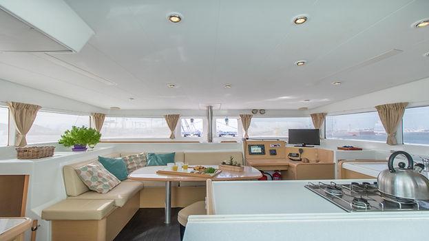 Naxos Yachting Catamarans DANAE & RENA interior saloon