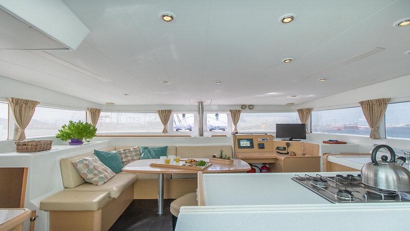 Naxos Yachting Catamarans DANAE & RENA, interior saloon