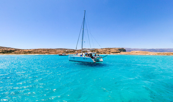 Pristine turquoise waters in Koufonisi