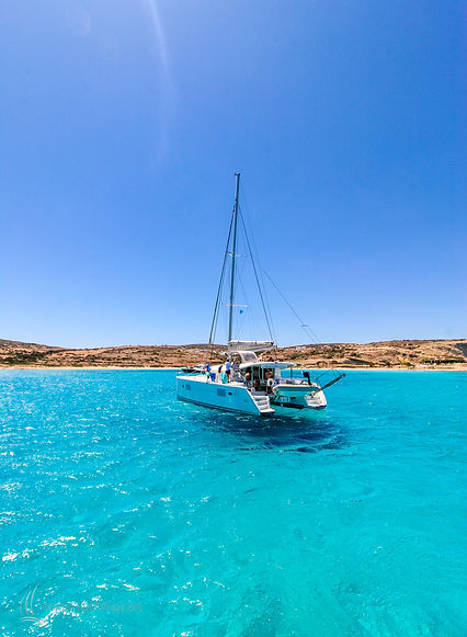 Naxos Yachting Catamarans DANAE & RENA, naxos sailing trips, day cruises