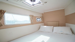 Naxos Yachting Catamarans DANAE & RENA interior port forward cabin