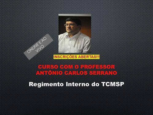 Regimento Interno do TCMSP