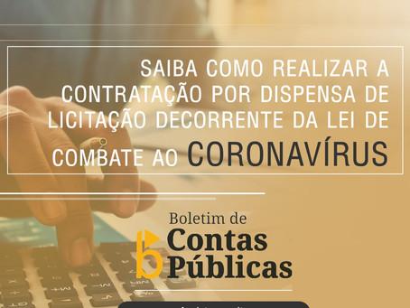 Boletim sobre contratações em época de pandemia de coronavírus