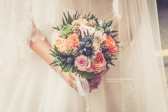 le beau bouquet de la mariée capturé par yann lecomte à Lille