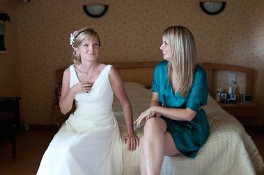 petit moment de calme avant les cérémonies du mariage