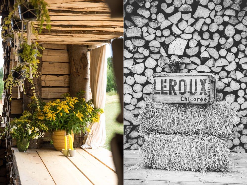 """Magnifique décoration """"nature"""" pour cette salle construite en bois"""