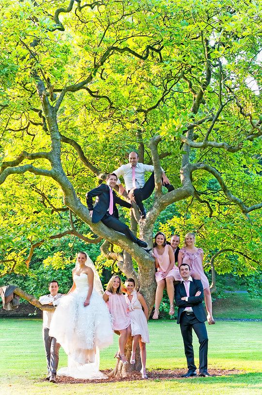 Jolie lumière pour cette photo de mariage nature à Lille