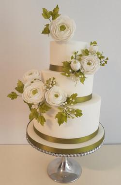 Ranunuculus cake