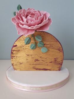Gold Peony Cake