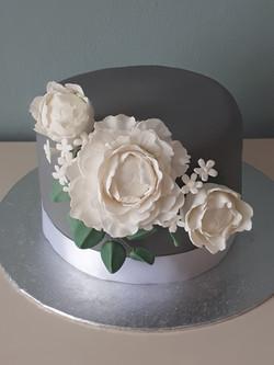 Grey Peony cake