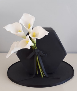 Black Lily cake