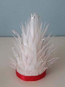 Mini White Christmas Tree cake