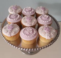 Mauve cupcakes
