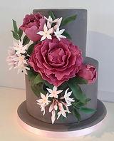 Peony and jasmine cake