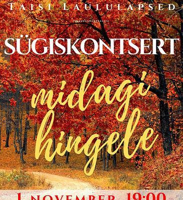 Taisi Laululapsed Sügiskontsert 2019