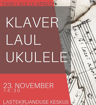 Taisi Laululapsed Solistide Sügiskontsert 2019