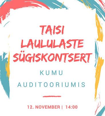 Taisi Laululapsed Sügiskontsert 2017