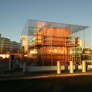 Kapara fasade/siets. Lahti, Finland
