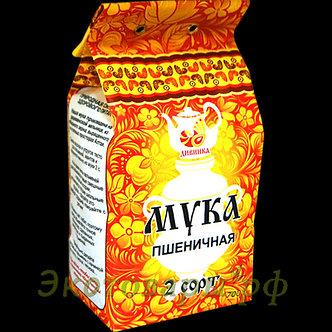 """Мука пшеничная Алтайская 2 сорт 700г бумажный пакет """"Дивинка"""""""