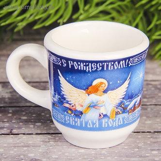 Кружечка для святой воды «Рождественская ночь», 5,5 х 4 х 3 см