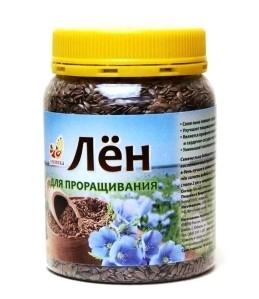 "Лен для проращивания, 240 гр. банка ""Дивинка"""